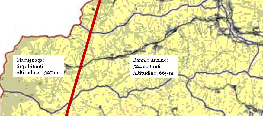 """Figura 2. Valle Anzasca: la frontiera """"nascosta"""" fra media e alta valle"""
