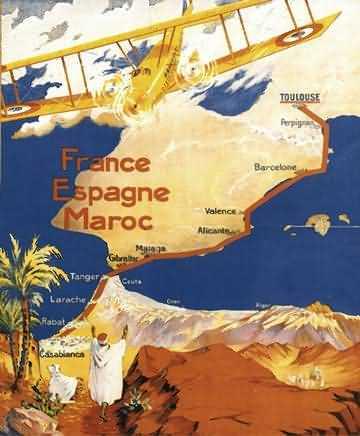 Figure 1. Latécoère, « Lignes aériennes G. Latécoère, France Espagne Maroc », anonyme, 1921. Fonds Air France.